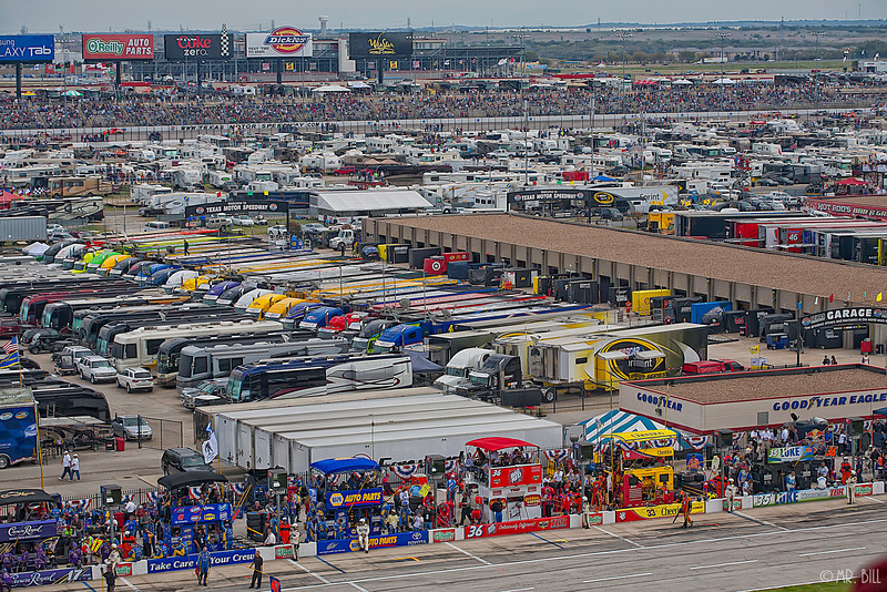 Garage area and trailers NASCAR AAA Texas 500 @ Texas Motor Speedway