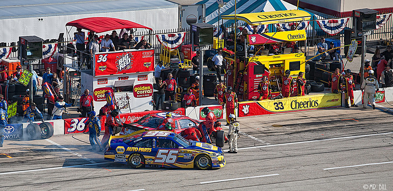 Martin Truex Jr leaving pit during the NASCAR AAA Texas 500 @ Texas Motor Speedway