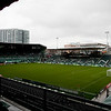 Jeld-wen field is empty prior to the first MLS game ever held in the newly remodeled stadium. Portland defeated Chicago 4-2 in the rain at the home opener at Jeld-Wen Field in Portland, Oregon