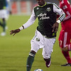 Portland Timbers midfielder Kalif Alhassan (11) runs the ball. Portland defeated Chicago 4-2 in the rain at the home opener at Jeld-Wen Field in Portland, Oregon
