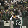 Lumber Joey pumps up the crowd in the second half. Portland defeated Chicago 4-2 in the rain at the home opener at Jeld-Wen Field in Portland, Oregon