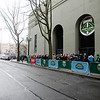 The fans are lined around the blog, 4 hours before the game. Portland defeated Chicago 4-2 in the rain at the home opener at Jeld-Wen Field in Portland, Oregon