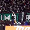 Lumber Jack Joey pumps up the Portland Timbers Army. Portland defeated Chicago 4-2 in the rain at the home opener at Jeld-Wen Field in Portland, Oregon