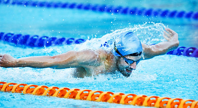 Dolphins and Paralympics swim teams training at Long Tan Pool.