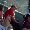 Watching a baseball game