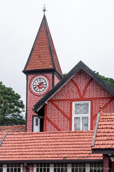 The red brick Post Office building in Nuwara Eliya, constructed in 1894.