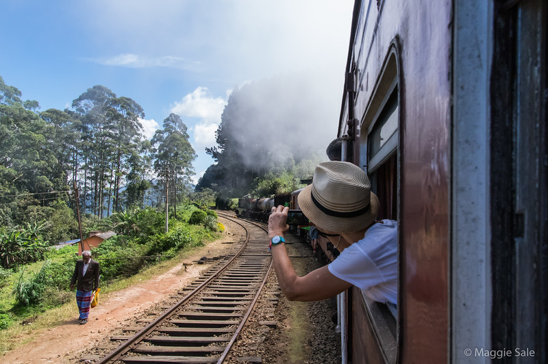 It was the slow train to Badulla and many stops along the track, some to allow other trains to pass. Windows all open so got a few photos, when I could get near a window! Mostly I just had to stick my camera out the window and shoot and hope for the best!!