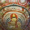 A ceiling painting in one of the temples.