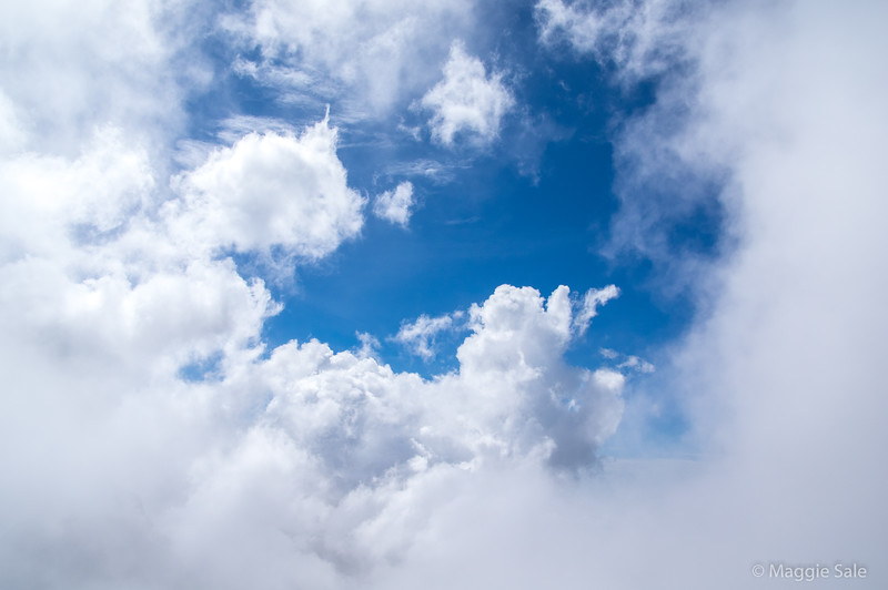 Sky still blue above us!
