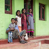 A farmer's family in the village. Theirs was one of the better looking houses.