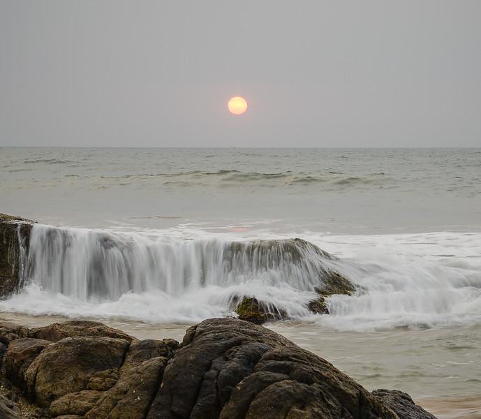 Coucher de soleil sur Bentota