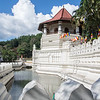 The important Temple of the Tooth (Buddha's tooth) in central Kandy by the lake.