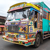 Trucks were often decorated and colourful even if their safety standards were lacking!!! Fish market across the road but again not much activity.