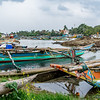 Negombo fishing harbour. We passed this protected lagoon area en route to the main commercial fishing port. Not much fishing action on that day as the winds were high and boats advised not to go out to sea.