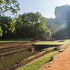 The water gardens below Sigiriya rock which we climbed early in the morning to avoid crowds and heat of the day!