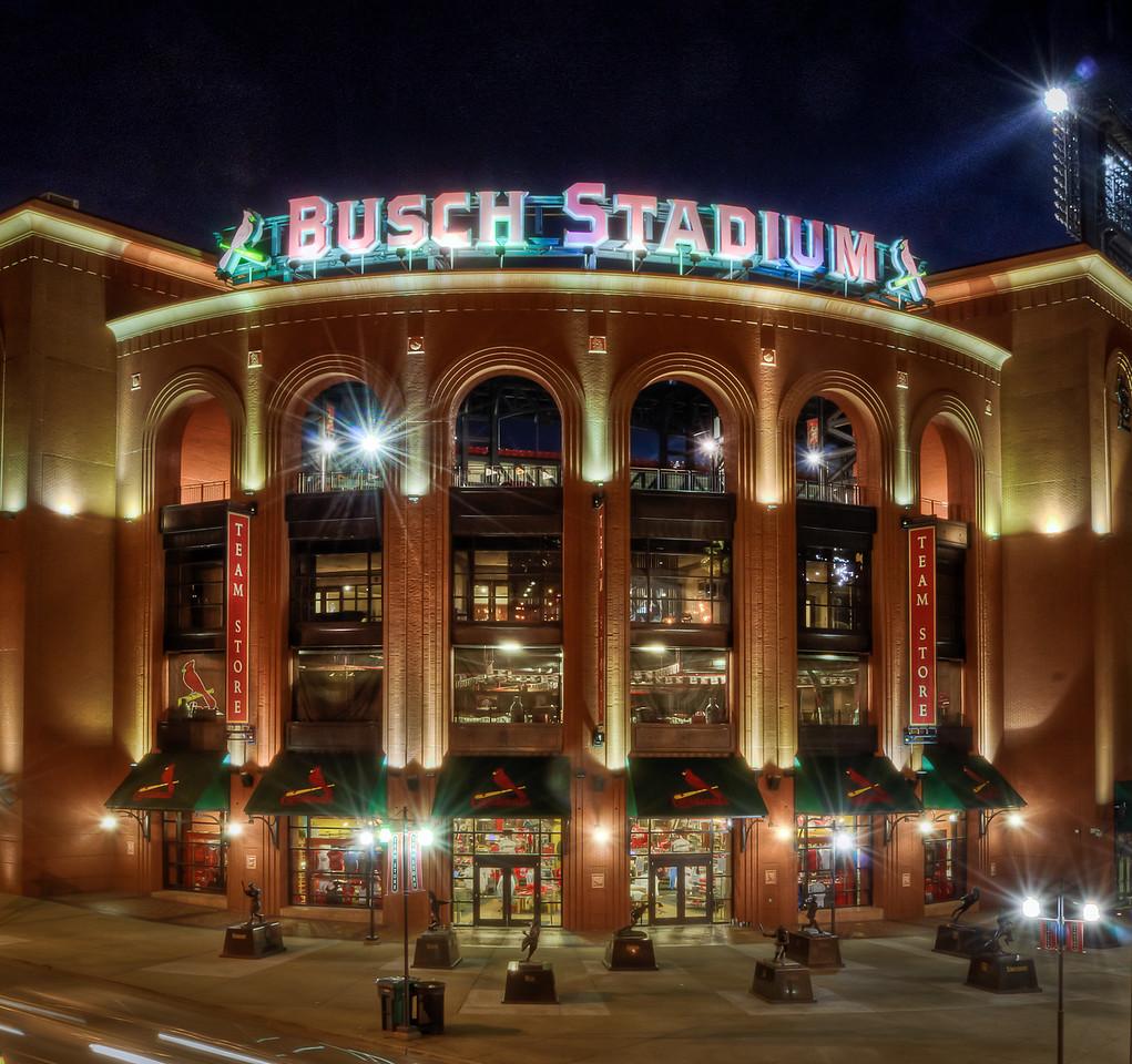 Busch Stadium at Night