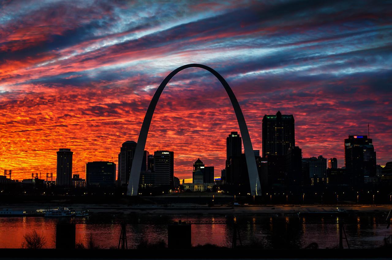 Gateway Arch Sunset
