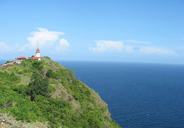 Cape Moule a Chique Lighthouse - built in 1912 - 745 ft. (227 m) above the Caribbean Sea
