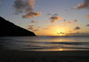 Sunset at Reduit Beach - at Rodney Bay - to the cumulus clouds above the Caribbean Sea