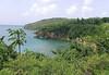Sea arch along the western coast of the island