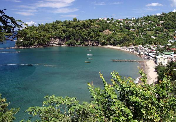 Fishing and farming village of Anse La Raye - western coastline