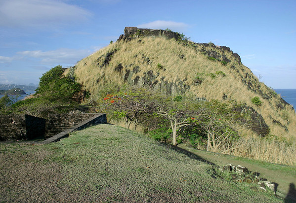 Fort Rodney - across to Masson Point, the southern end of Rodney Bay