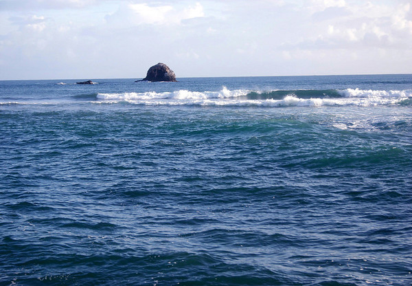 Couple of rock outcrops just northeast of Pigeon Island