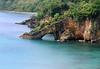 Sea arch along the western coastlne