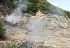 Sulphur Springs - a geothermal field with sulphurous fumaroles and hot springs - located within the Quailbou Depression (a collapsed strato volcano) - part of the, Pitons Management Area, a UNESCO World Heritage Site