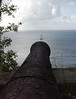 Cannon at Fort Rodney, atop Pigeon Island - westward into the Caribbean Sea