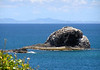 Beyond the rock outcrops north of Pigeon Island - northward to the the island of Martinique