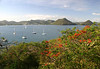 From Pigeon Island - across Rodney Bay - to Gros Islet (town)