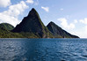 Across the mouth of Soufrière Bay - to the Petit and Gros Pitons