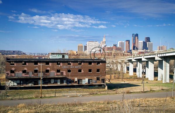 St. Paul Minnesota Lower Town Depot before demolition