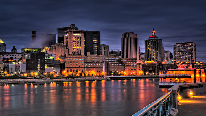 The Blue Hour in St. Paul