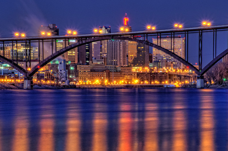The blue hour in Downtown St. Paul