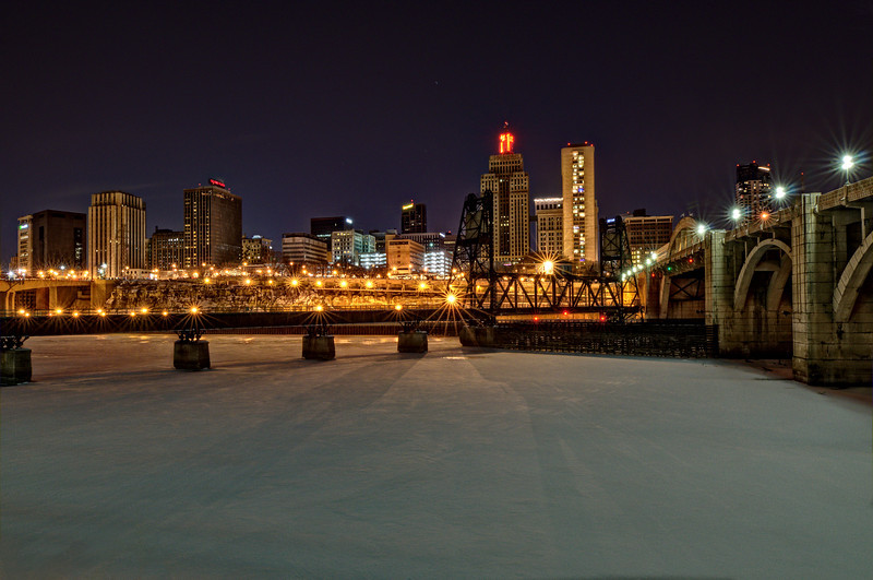 A winter night in St. Paul