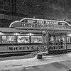 Mickey's Diner on a Snowy Night     B&W