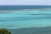 Across Great Pond Bay - to the Caribbean Sea breaking upon the reef - southeastern island coast