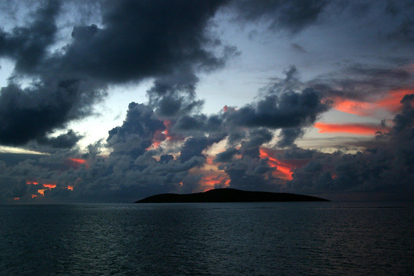 Buck Island sunset - from the cliffs near Knight Bay, northeastern shore of the St. Croix
