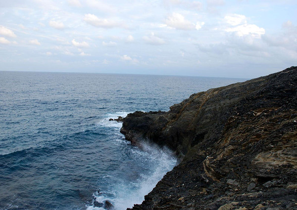 Along the sedimentary cliffs of the eastern end of St. Croix - to Point Udall, the eastern most point of all U.S. territory