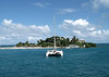 Beyond the catamaran, to Protestant Cay in the Christiansted Harbor