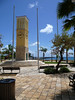 Clock Tower at the Frederiksted Waterfront Park - with the pier beyond