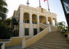 The Government House - constructed in 1830, the office of the Governor and Lt. Governor - the 3rd floor is the living residence of the Governor - town of Christiansted