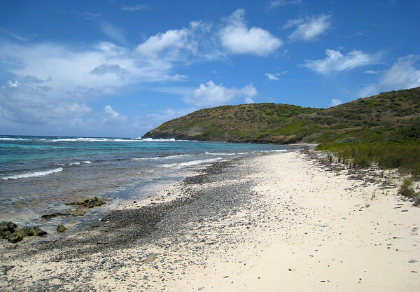 Boiler Bay Beach - with Point Udall beyond (eastern end of St. Croix)
