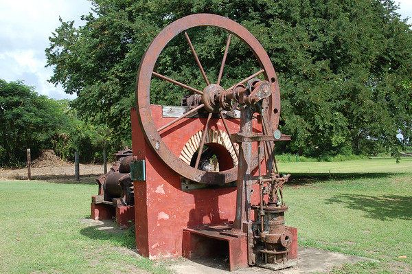 Steam Engine - used to power the sugarcane roller press - Whim Plantation