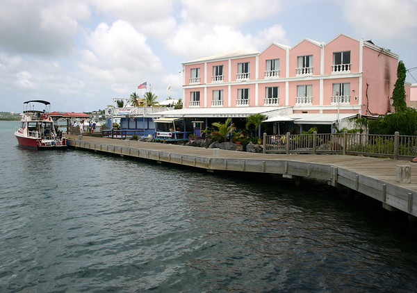 Caravelle Hotel - 16 years later, which was my hotel where I was originally staying at back in September 17, 1989 - until I was evacuated to the Red Cross Shelter at St. Mary's Catholic School, a few blocks inland from here at the Christiansted Harbor - unfortunately the next day, all of my clothing and scuba gear that I brought had been washed and blown out into the Caribbean Sea