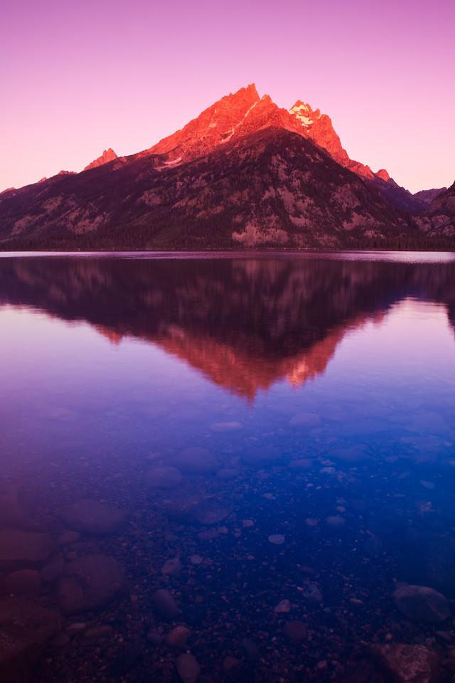 Grand Teton Reflected in Jenny Lake - IMG#9002