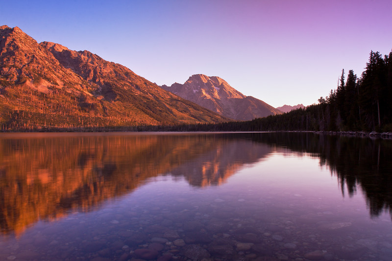 Mount Moran from Jenny Lake - IMG#9041