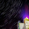 Star Trail over Sparkasse Bank, Tuzla